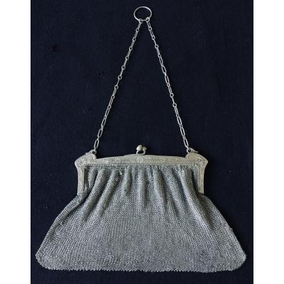 Art Nouveau Silver Evening Bag