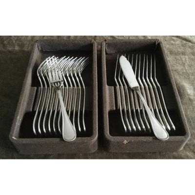 12 Christofle Albi Fish Cutlery
