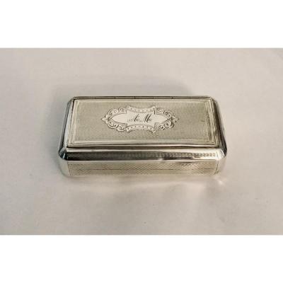 Napoleon III Silver Snuff Bottle