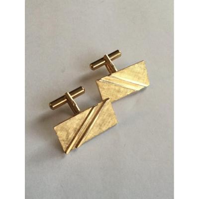 Pair Of Gold Cufflinks