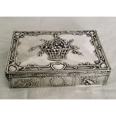 Boîte En Argent Style Louis XVI