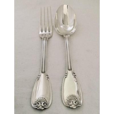 Silver Cutlery Christofle Cardeilhac