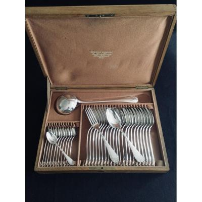 Cutlery Set 37 Pieces Christofle Directoire / Rat Tail