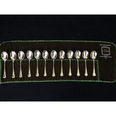 12 Christofle Ice Cream Spoons
