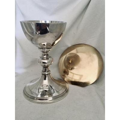 Silver Chalice And Its Paten