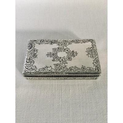 Austro-hungarian Sterling Silver Box 1840