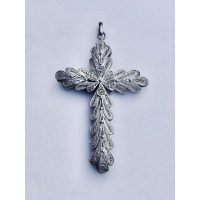 Filigree Silver Cross