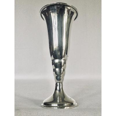 Dutch Silver Cornet Vase