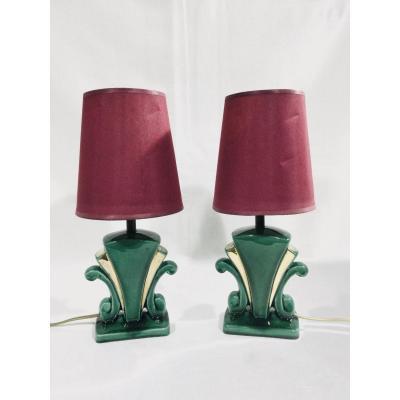 Pair Of Art Deco Lamp