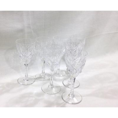 Saint-louis- Chantilly Model 7 Red Wine Glasses