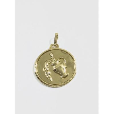 Médaille Verseau En Or