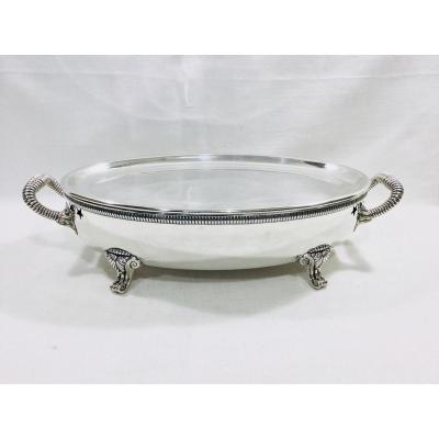 Odiot - Oval Plate Warmer In Lined Metal 19th