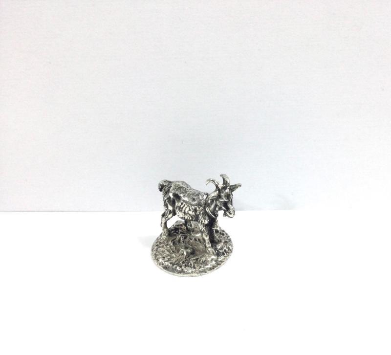 Mascotte Chèvre Bronze Argenté -photo-2