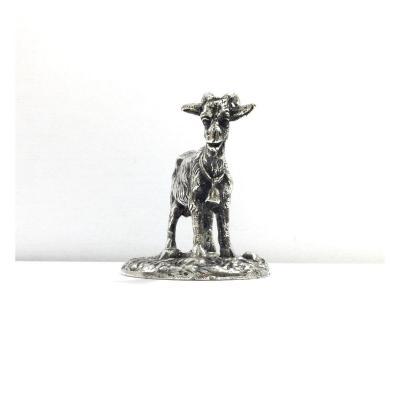 Mascotte Chèvre Bronze Argenté