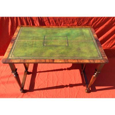 English Game Table In Burl Walnut