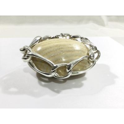 Horse Link Silver Bracelet