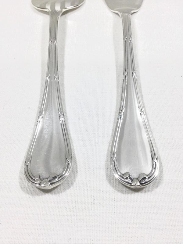 Christofle - Fish Service Cutlery Cross Ribbon Model-photo-2