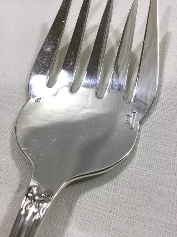 Christofle - Fish Service Cutlery Cross Ribbon Model-photo-4