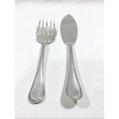 Christofle - Fish Service Cutlery Pearl Model