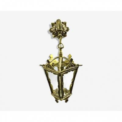 Bronze Lantern With Starry Glasses