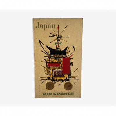 Air France Poster, Georges Mathieu, Japan, 1967