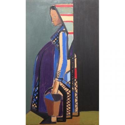 Eren Eyuboglu (1913-1988)  Maternité 1953 Superbe Gouache