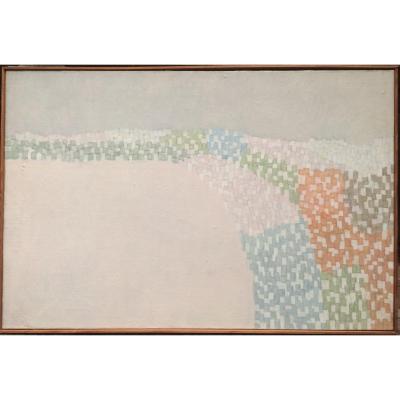 Vera Pagava (1907-1988) Venice 1963 Oil On Canvas