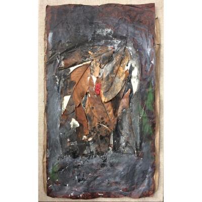 Ida Karskaya (1905-1990) Collage With Leaves, Circa 1956/1957