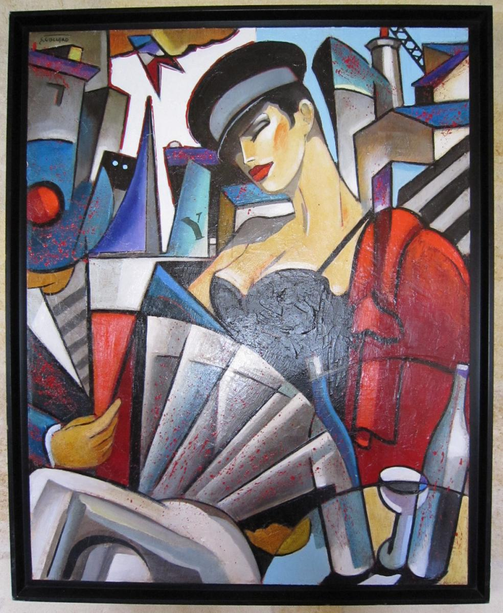 Tableau Huile Sur Toile Peinture Stephane Gisclard
