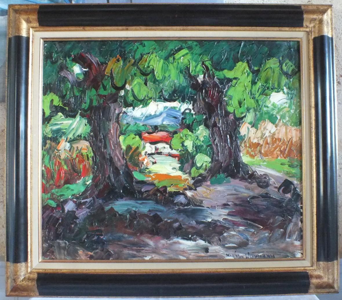 Hst Huile Sur Toile Maurice Vagh Weinmann Village Peinture Tableau
