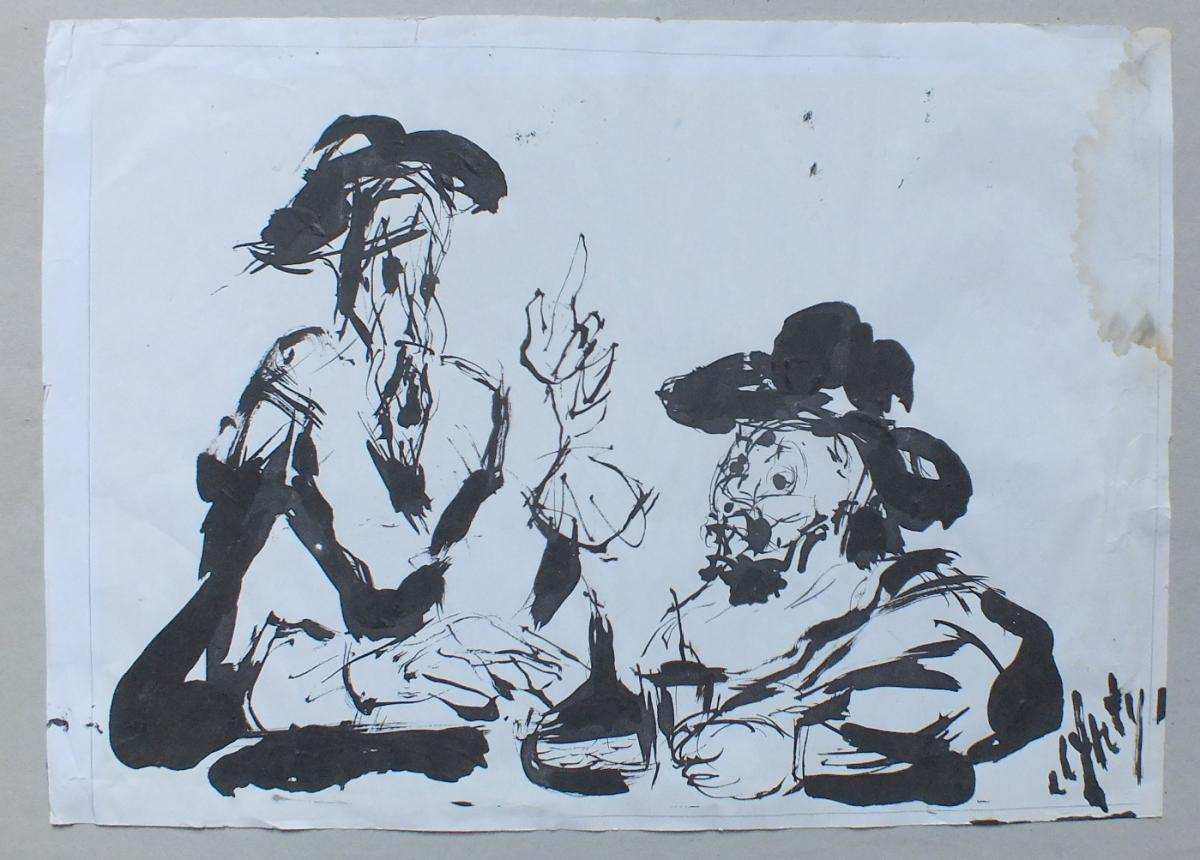Henry Of Anty Don Quixote Ink From China And Gouache