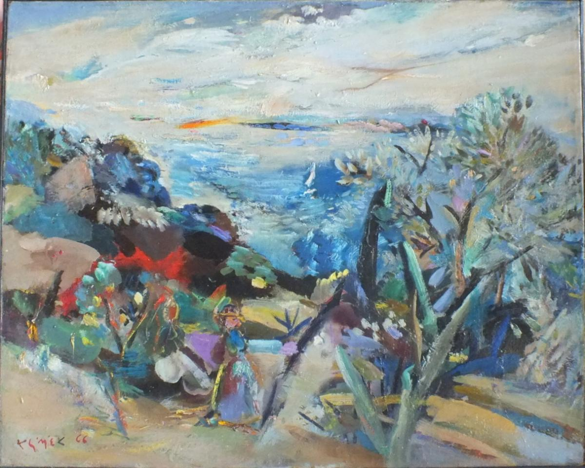 Huile Sur Toile Klimek 1966 (1912-1992)