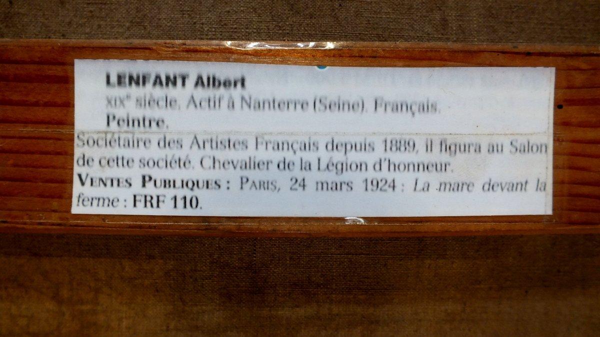 Hst Albert Lenfant Arz Elven Bretagne Peinture Tableau-photo-3