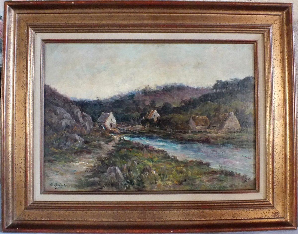 Hst Albert Lenfant Arz Elven Bretagne Peinture Tableau-photo-5