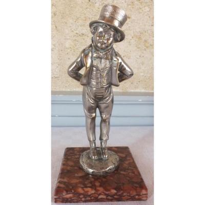 Bronze Argenté De Georges Omerth Mascotte De Radiateur De Voiture