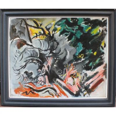 Oil On Canvas Edouard Pignon 62
