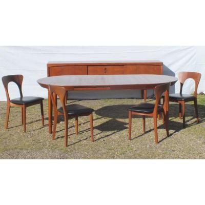 Sideboard Table Chairs Scandinavian Klein And Koefoeds