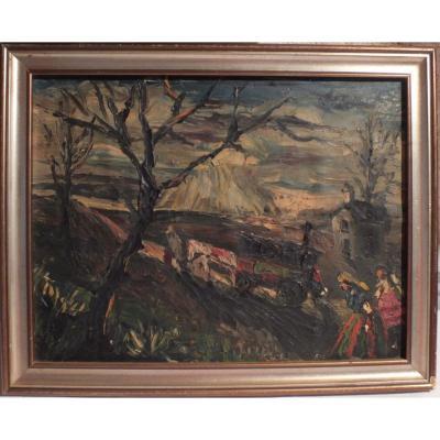 d'Anty Oil Painting Bohemians Gypsy Caravan