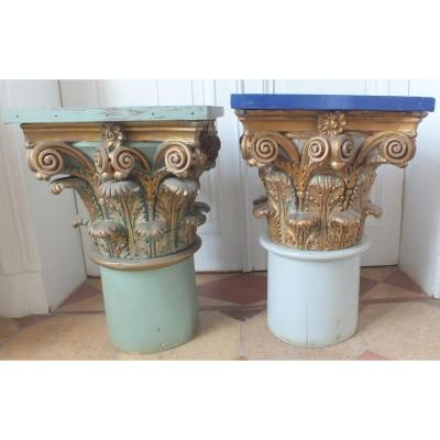 2 Golden Wood Capitals