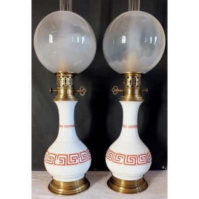 Porcelain Lamp Pair