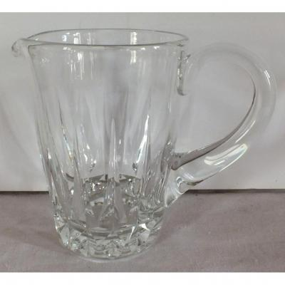 Saint Louis Cut Crystal Pitcher