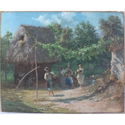 Hst Peinture Par Eduardo Matania (1847-1929)