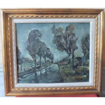 Hst Canal Signed P Papillaud