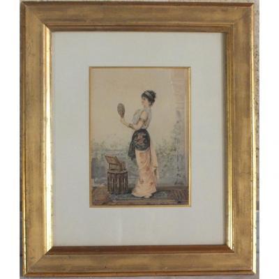 Orientalist Watercolor R.ernst
