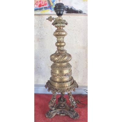 Bronze Lamp System Late 19th Dubernat Bordeaux