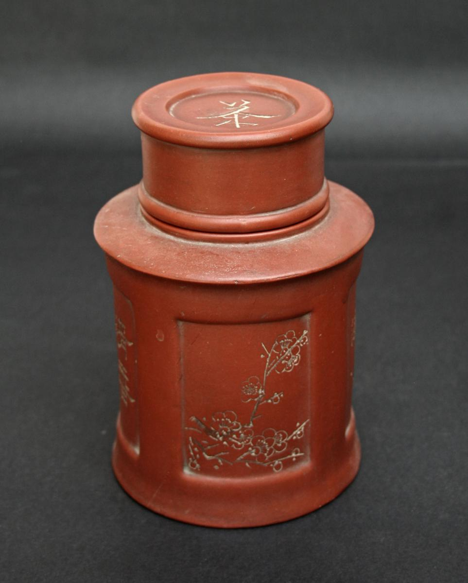 Antique Chinese Yixing Tea Caddy Chine