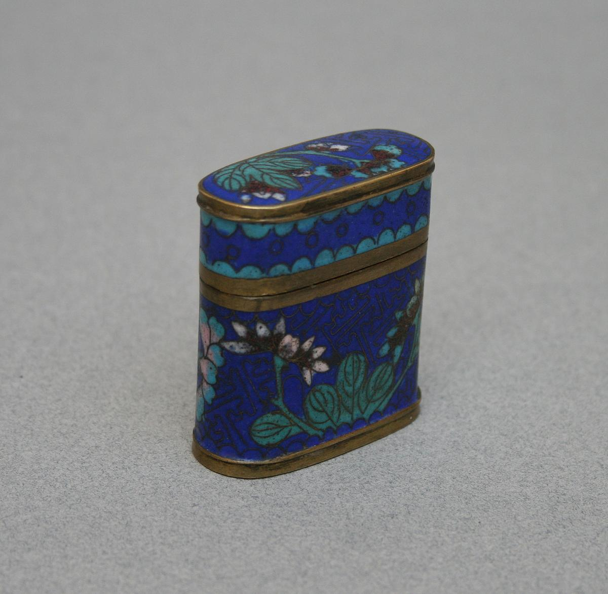 Ancien Boite Opium Chinoise Cloisonne Chine