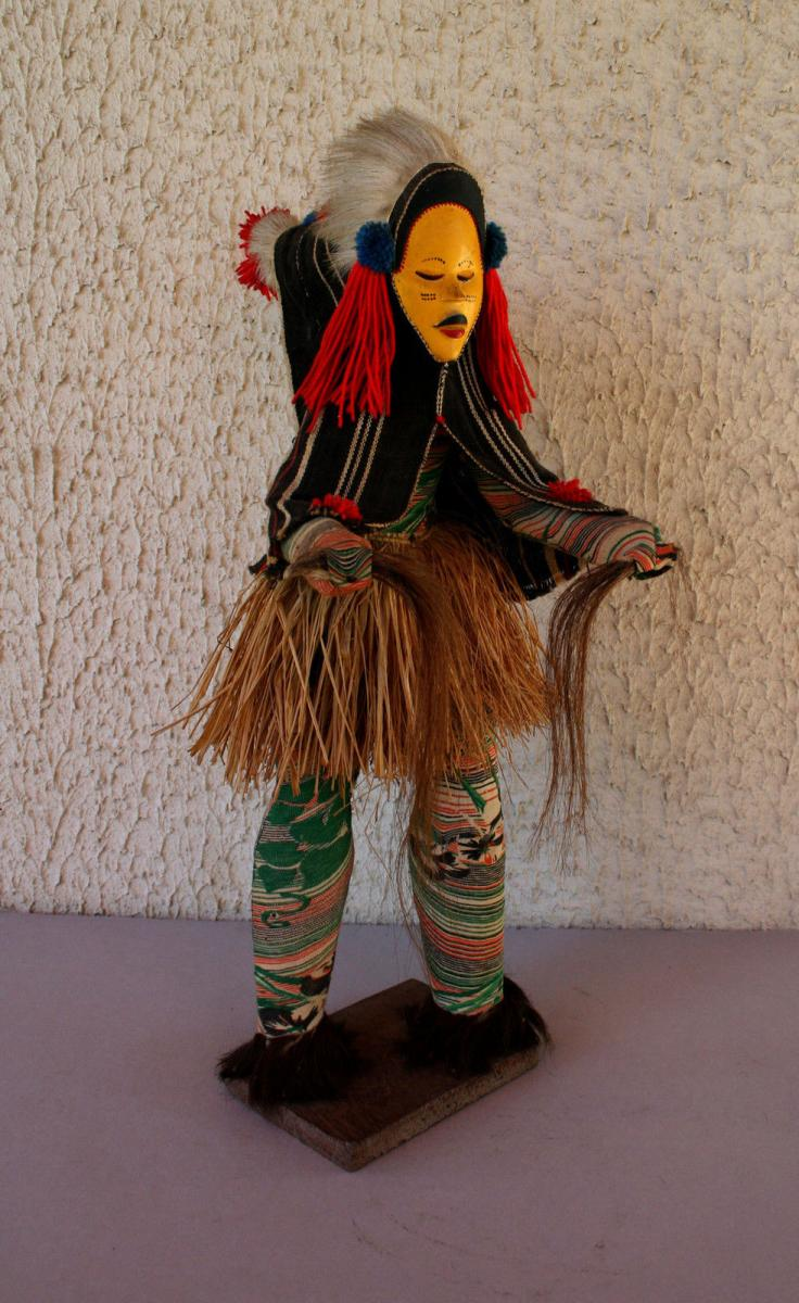 Ancien Masque De Danse Tribu Dan Africain