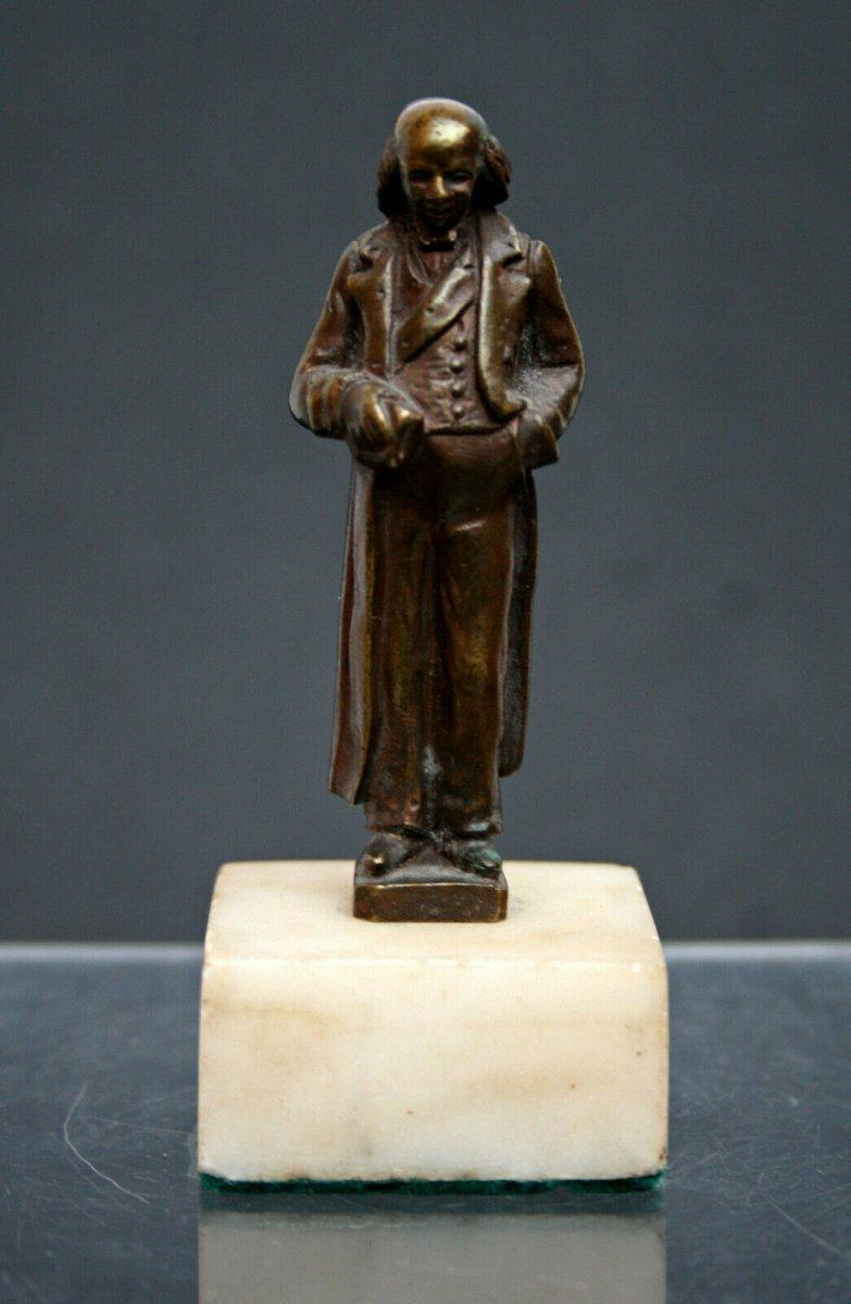 Antique Miniature Bronze Benjamin Franklin Americana