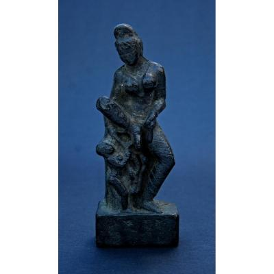 Early Antique Indian Bronze Hindu Goddess Déesse Indienne Hindoue Inde